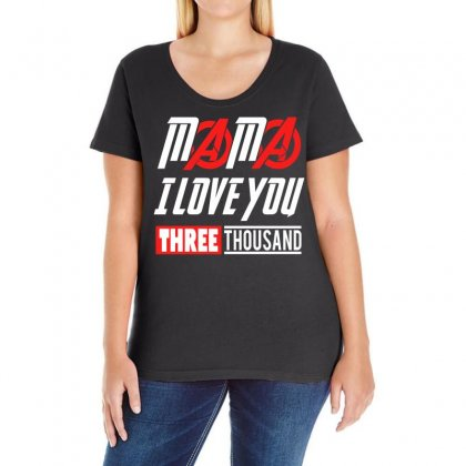 Mama I Love You 3000 Ladies Curvy T-shirt Designed By Omer Acar
