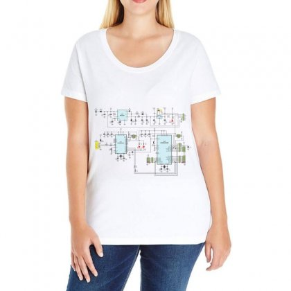 Circuits Electronics Atmel Ladies Curvy T-shirt Designed By Salmanaz
