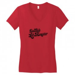 daddy's lil monster harley quinn Women's V-Neck T-Shirt | Artistshot