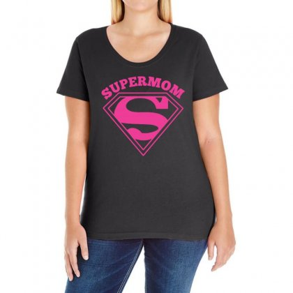 Super Mom Gift Ladies Curvy T-shirt Designed By Omer Acar