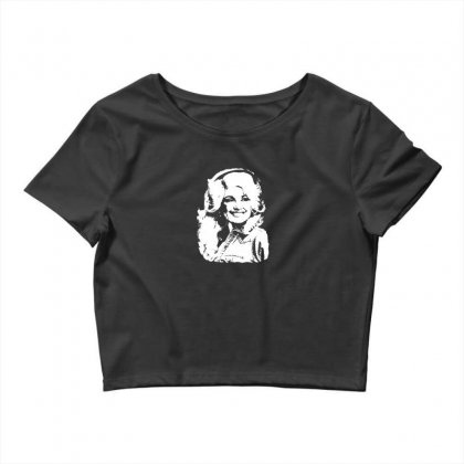 Dolly Parton Distressed Photo Crop Top Designed By Ismi