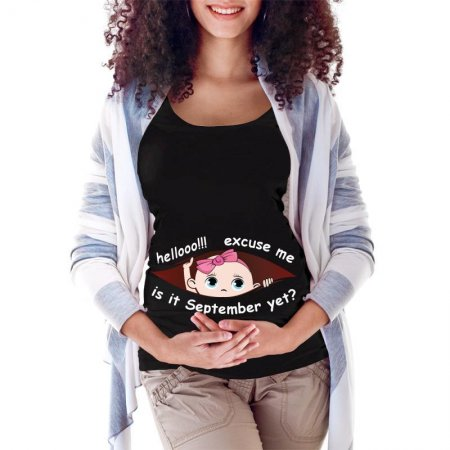 September Peeking Out Baby 3 Maternity Scoop Neck T-shirt Limited Edition