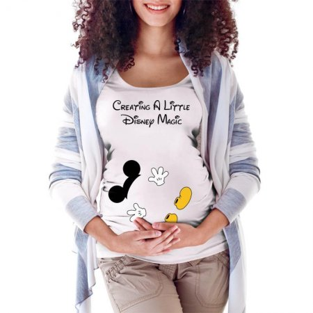 Creating a Little Disney Magic Character Maternity Scoop Neck T-shirt Limited Edition