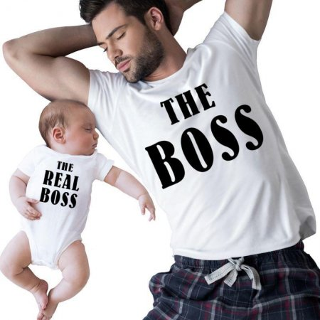 The Boss - The Real Boss Family Matching Shirts