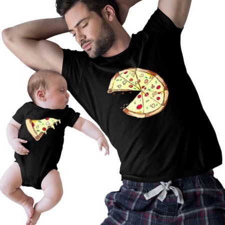 Pizza Slice matching Matching Shirts