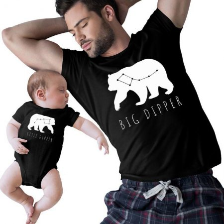Little Dipper  - Big Dipper daddy and me Matching Shirts