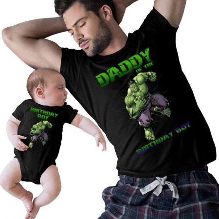Hulk Brother Of The Birthday Boy and daddy Matching Shirts