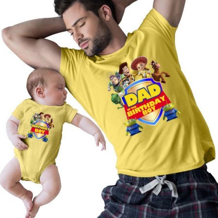 Toy Story Dad Of The Birthday Boy and birthday boy Matching Shirts
