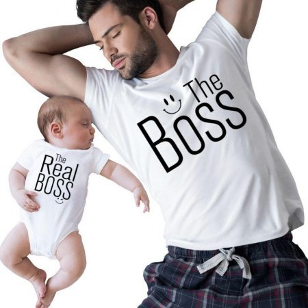 the boss and the real boss Matching Shirts