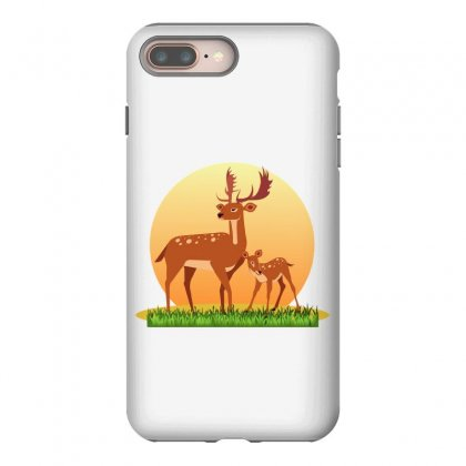 Mother Deer And Her Baby Iphone 8 Plus Case Designed By Zein