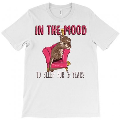 In The Mood To Sleep For 3 Years (cat) T-shirt Designed By Daudart