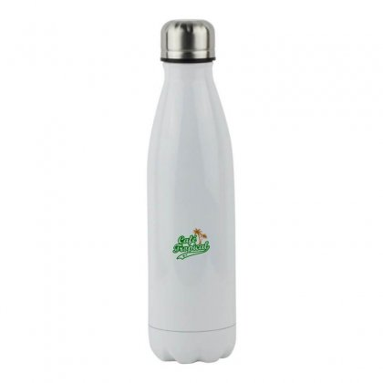 Cafe Tropical Stainless Steel Water Bottle Designed By Meganphoebe