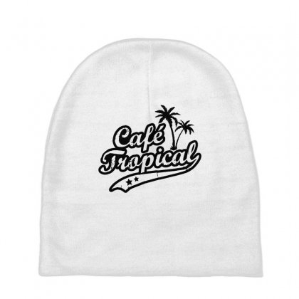 Cafe Tropical In Black Baby Beanies Designed By Meganphoebe