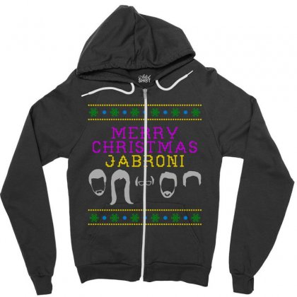 Awesome Merry Christmas Jabroni Ugly Zipper Hoodie Designed By Meganphoebe