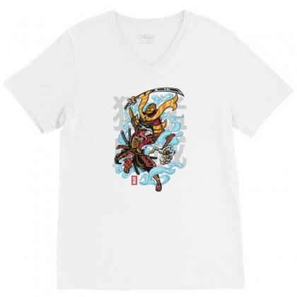 Rage Raccoon V-neck Tee Designed By Daudart