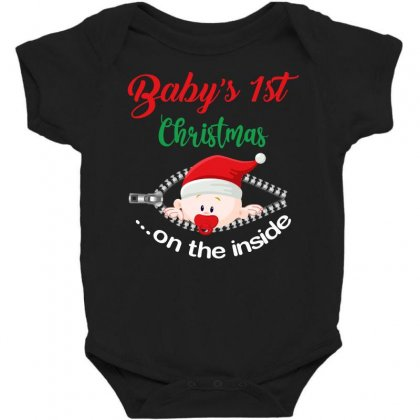Baby's 1 St Christmas On The ınside Baby Bodysuit