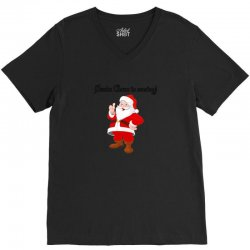 christmas is coming V-Neck Tee | Artistshot