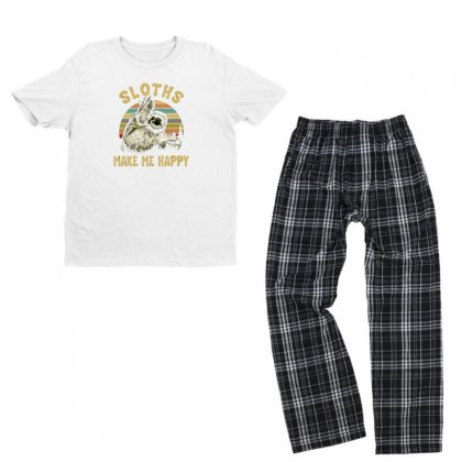 Sloths Youth T-shirt Pajama Set Designed By Disgus_thing