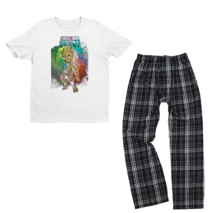 I Am Groot Baby Groot Gurdian Of The Galaxy Youth T-shirt Pajama Set Designed By Pujangga45