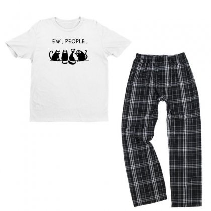 Cat Youth T-shirt Pajama Set Designed By Disgus_thing