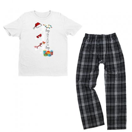 Hay Girl Hay Christmas Cow Youth T-shirt Pajama Set Designed By Hasret