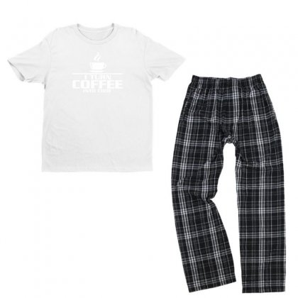 I Turn Coffee Into Code Funny Youth T-shirt Pajama Set Designed By Erryshop