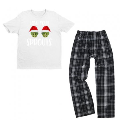 Love Your Sprouts For Dark Youth T-shirt Pajama Set Designed By Sengul