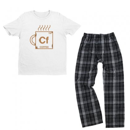 Coffee Youth T-shirt Pajama Set Designed By Disgus_thing