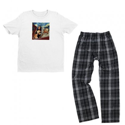 Love Youth T-shirt Pajama Set Designed By Disgus_thing