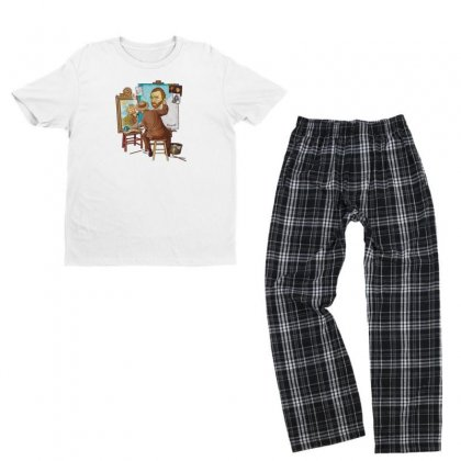 Vincent Youth T-shirt Pajama Set Designed By Disgus_thing