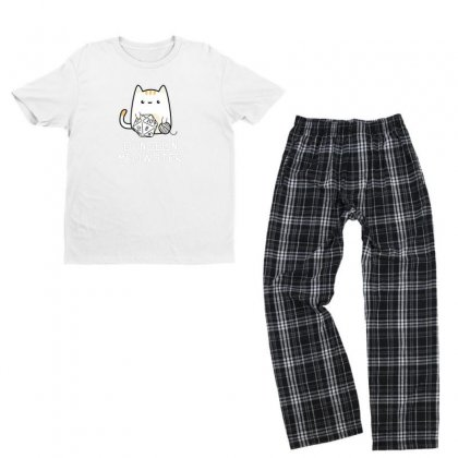 Meow Youth T-shirt Pajama Set Designed By Disgus_thing