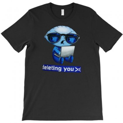 Deleting You T-shirt Designed By Disgus_thing
