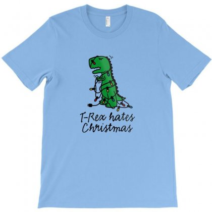 T Rex Hates Christmas T-shirt Designed By Doniemichael