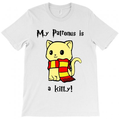 My Patronus Is A Kitty Funny T-shirt Designed By Tillyjemima Art