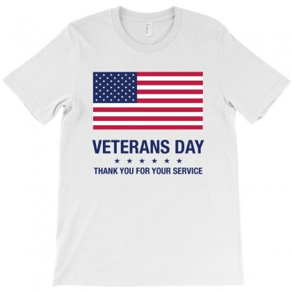 Veterans Day Thank You For Your Service T-shirt Designed By Tillyjemima Art
