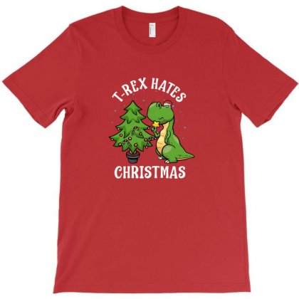 T Rex Hates Christmas T-shirt Designed By Coolmarcell