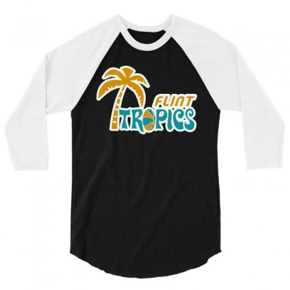 Flint Tropics 3/4 Sleeve Shirt Designed By Beruang Madu