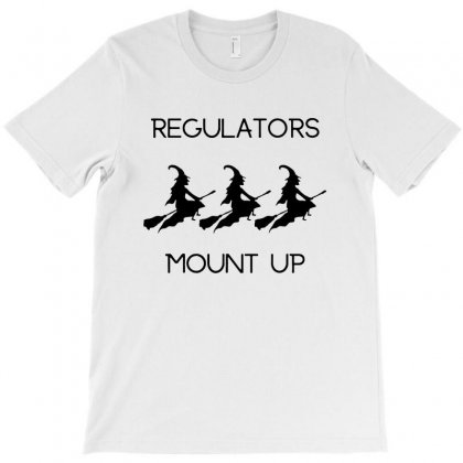 Funny Halloween Witch Regulators Mount Up In Black T-shirt Designed By Tillyjemima Art