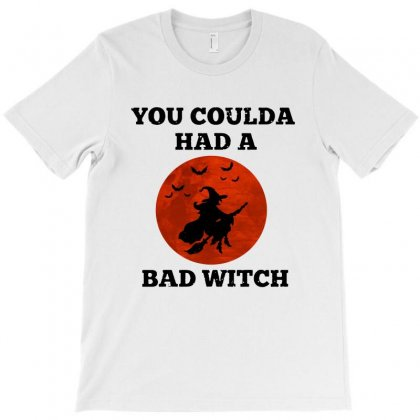 Funny Halloween Witch Shirt You Coulda Had A Bad Witch   Black T-shirt Designed By Tillyjemima Art