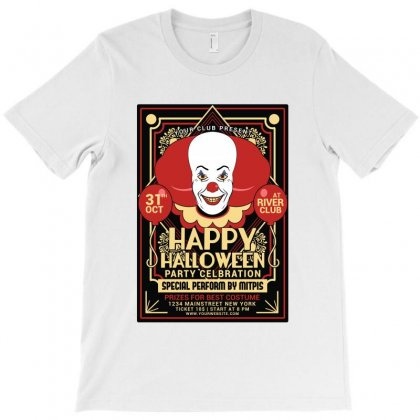 Halloween Party Clown Festival Flyer T-shirt Designed By Tillyjemima Art