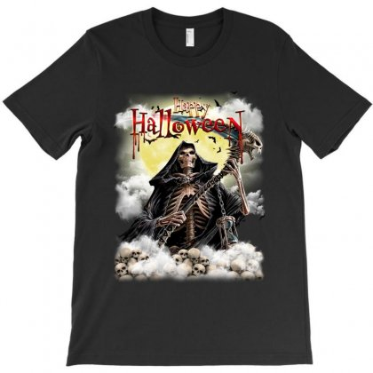 Happy Halloween Skull T-shirt Designed By Tillyjemima Art