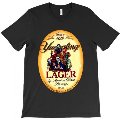Horror Movie Characters Yuengling Lager By America's Oldest Brewery T-shirt Designed By Tillyjemima Art