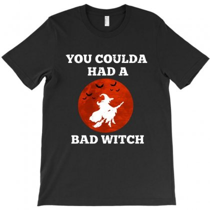 Funny Halloween Witch Shirt You Coulda Had A Bad Witch   White T-shirt Designed By Tillyjemima Art
