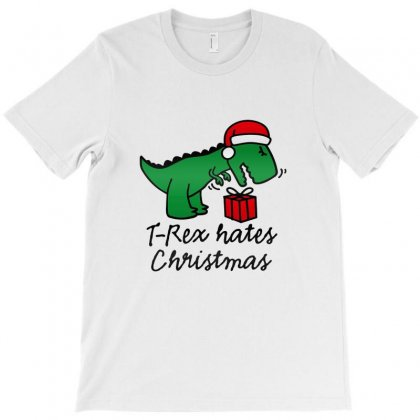 T Rex Hates Christmas T-shirt Designed By Ratna Tier