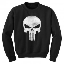 Punisher Skull Vintage Youth Sweatshirt | Artistshot