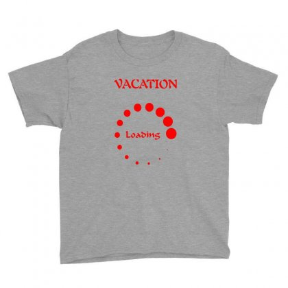 Vacation Loading Red Graphics Youth Tee Designed By Aranim Graphics