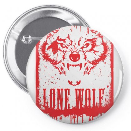 Lone Wolf Pin-back Button Designed By Estore