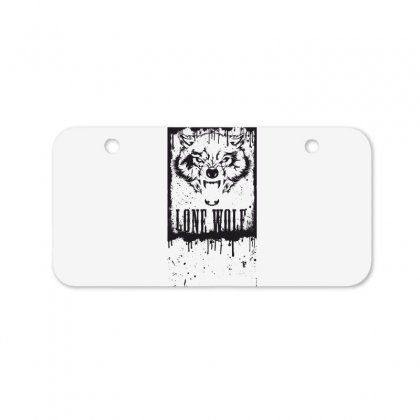 Lone Wolf Bicycle License Plate Designed By Estore
