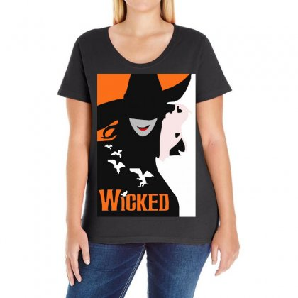Wicked Broadway Musical Ladies Curvy T-shirt Designed By Mirazjason