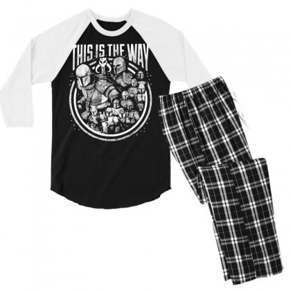 This Is The Way Men's 3/4 Sleeve Pajama Set Designed By Mirazjason